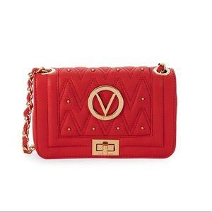 Pre-loved Valentino Chevron Leather Crossbody Bag